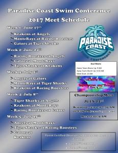 2017 PCSC Schedule